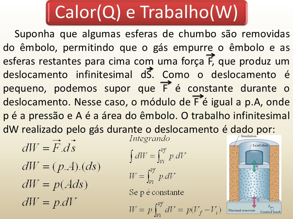 Calor(Q) e Trabalho(W)
