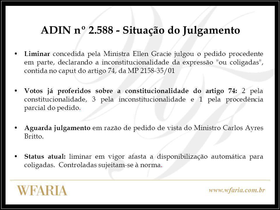 ADIN nº 2.588 - Situação do Julgamento