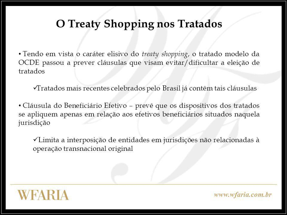 O Treaty Shopping nos Tratados
