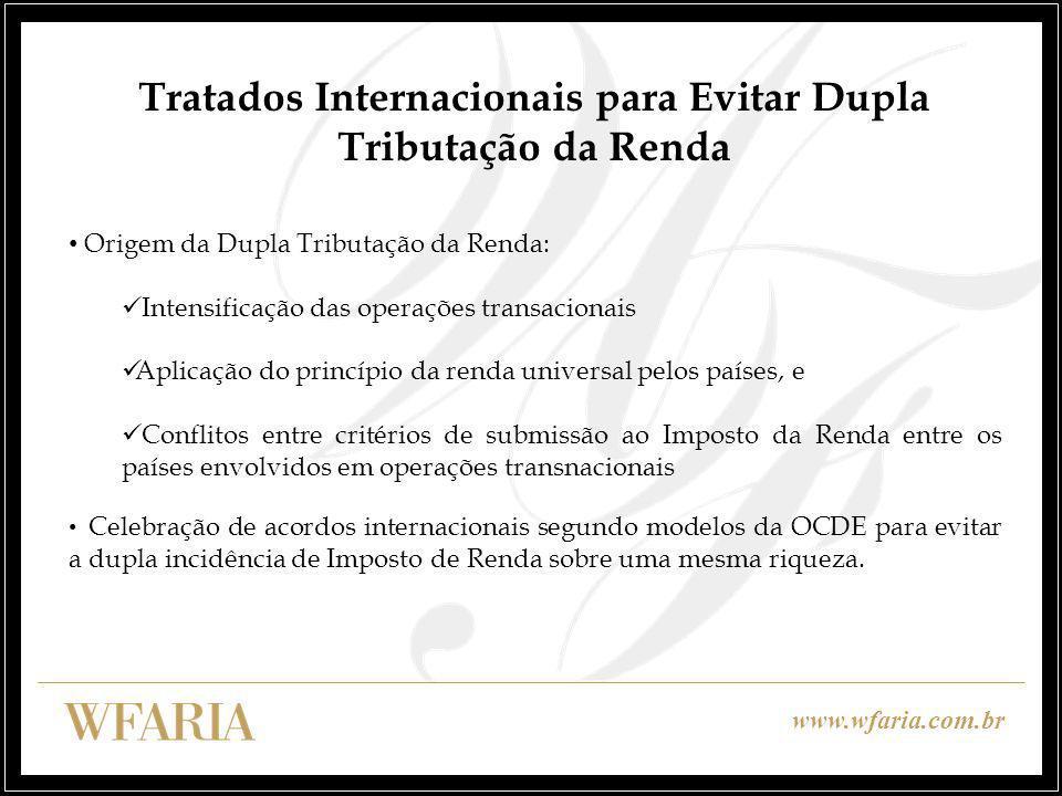 Tratados Internacionais para Evitar Dupla Tributação da Renda