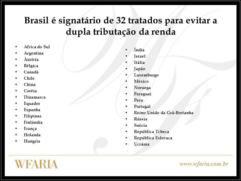 Brasil é signatário de 32 tratados para evitar a dupla tributação da renda