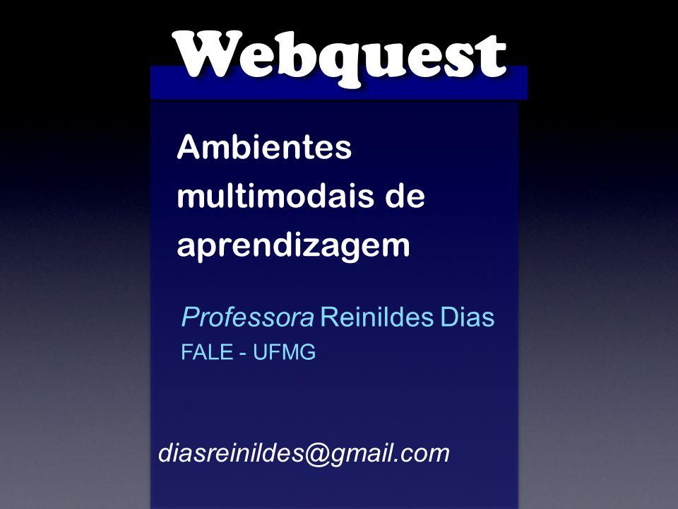 Webquest Ambientes multimodais de aprendizagem