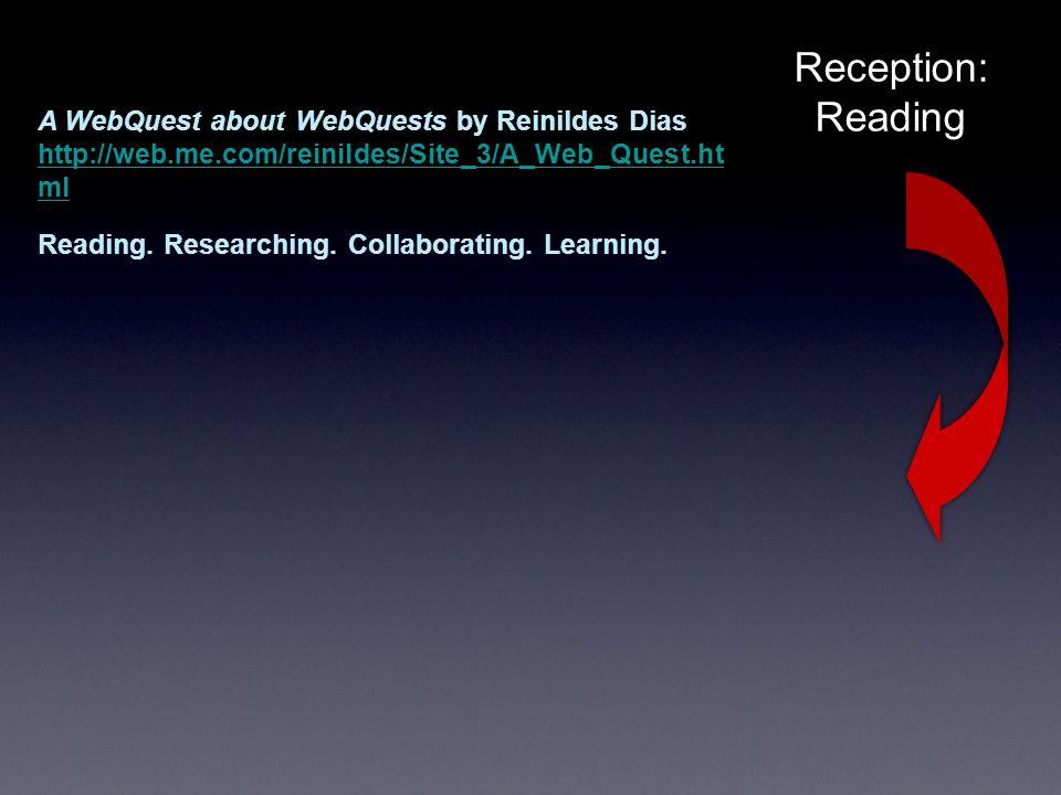 Reception: Reading A WebQuest about WebQuests by Reinildes Dias