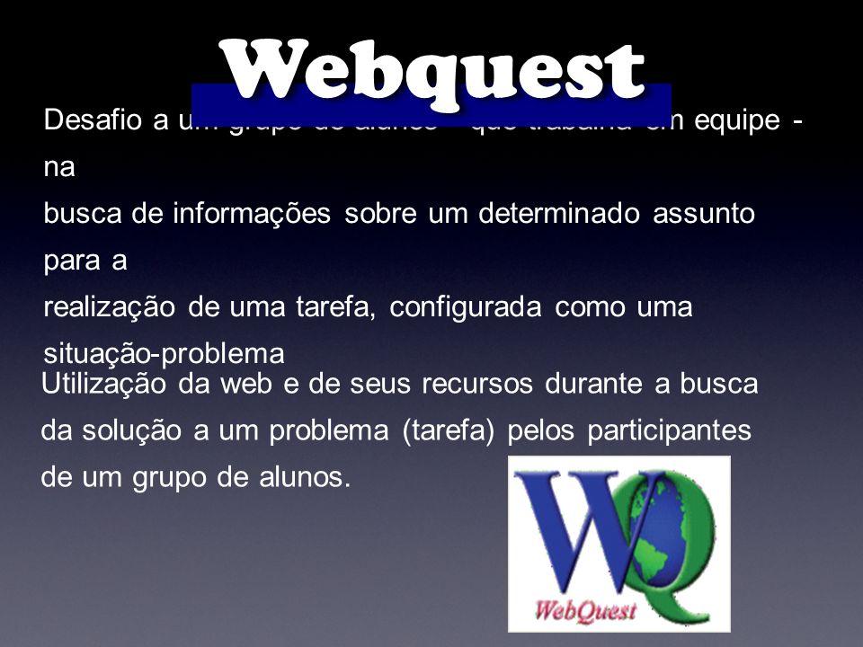 Webquest Desafio a um grupo de alunos - que trabalha em equipe - na