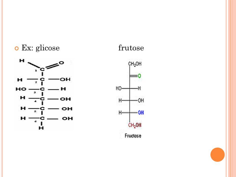 Ex: glicose frutose