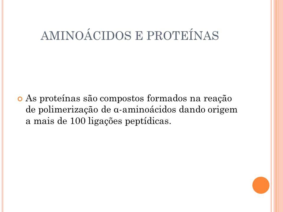AMINOÁCIDOS E PROTEÍNAS