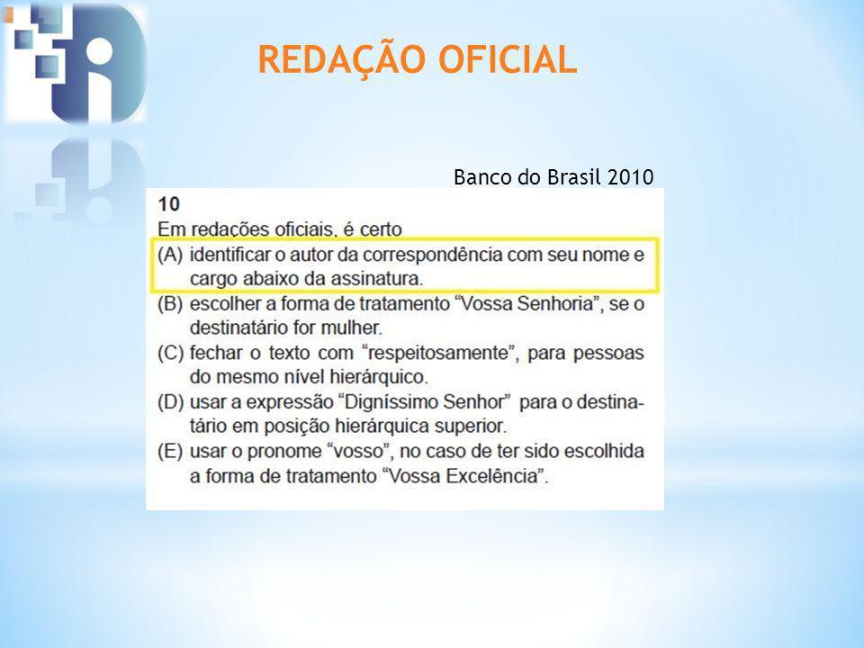 REDAÇÃO OFICIAL Banco do Brasil 2010