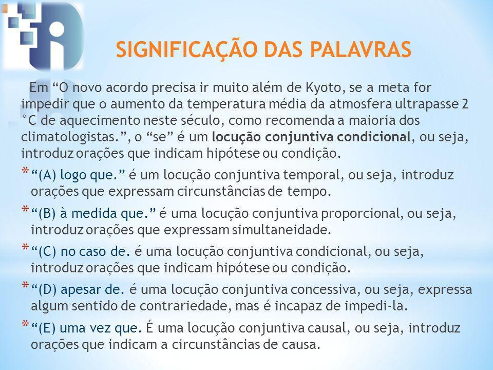 SIGNIFICAÇÃO DAS PALAVRAS