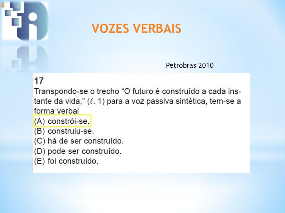 VOZES VERBAIS Petrobras 2010