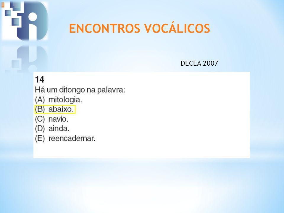 ENCONTROS VOCÁLICOS DECEA 2007