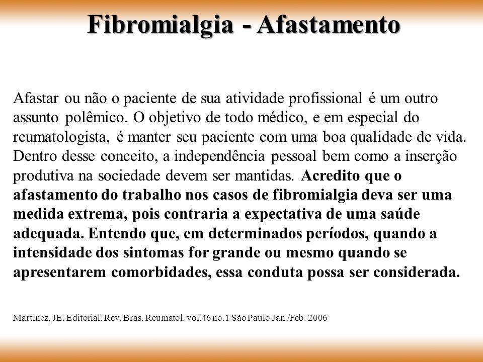 Fibromialgia - Afastamento