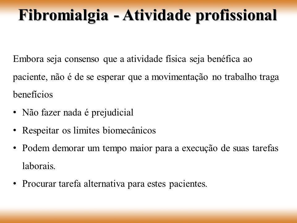 Fibromialgia - Atividade profissional