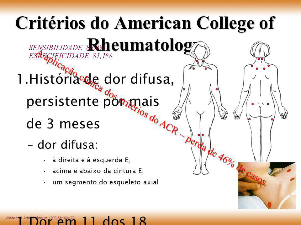 Critérios do American College of Rheumatology