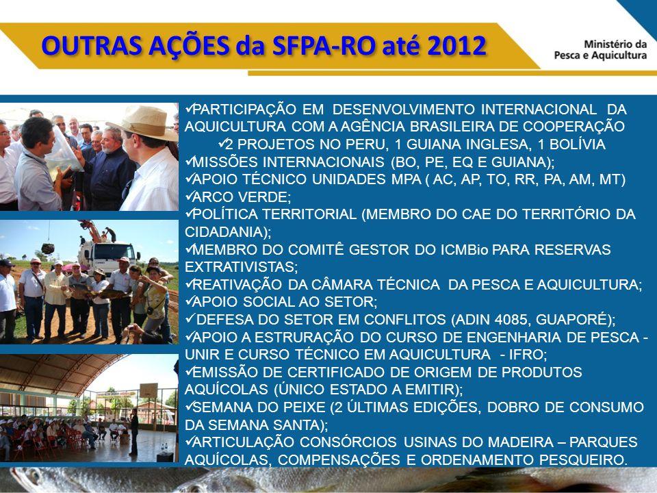 OUTRAS AÇÕES da SFPA-RO até 2012