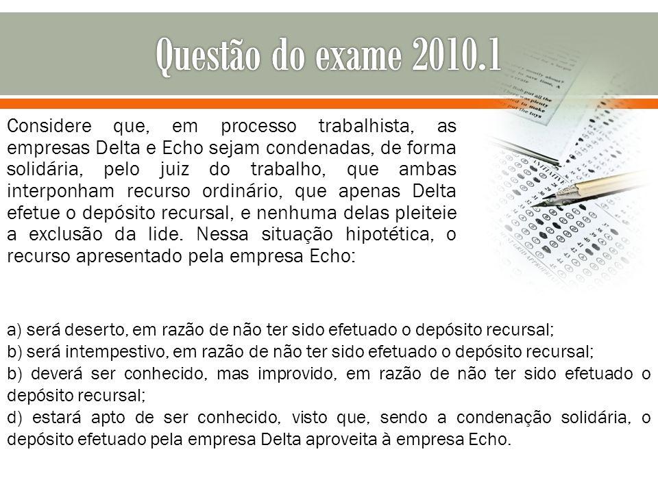 Questão do exame 2010.1