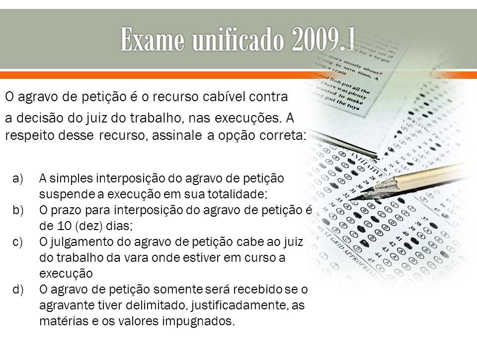 Exame unificado 2009.1