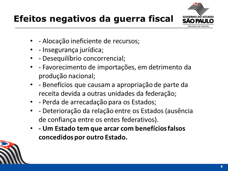 Efeitos negativos da guerra fiscal