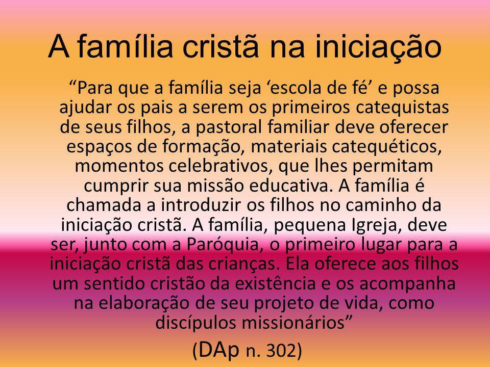 A família cristã na iniciação