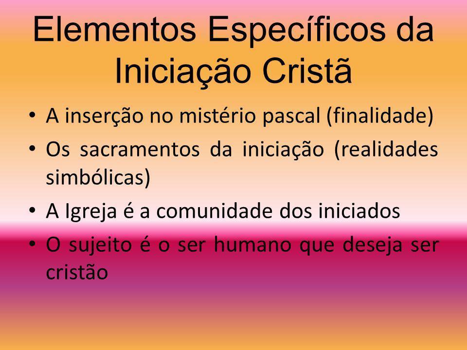 Elementos Específicos da Iniciação Cristã