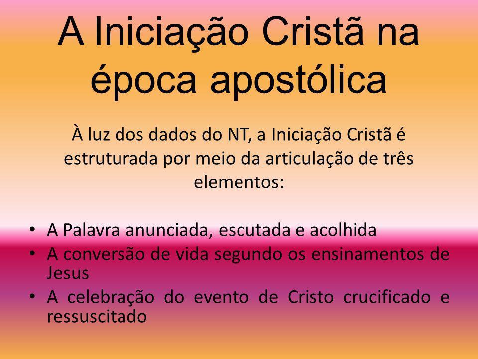 A Iniciação Cristã na época apostólica