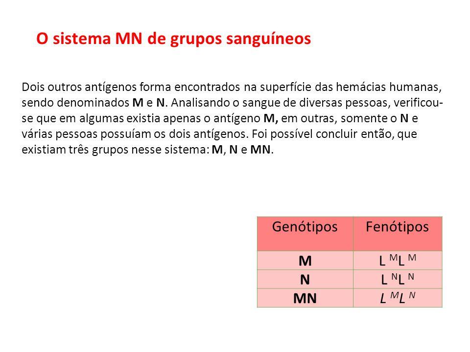 O sistema MN de grupos sanguíneos