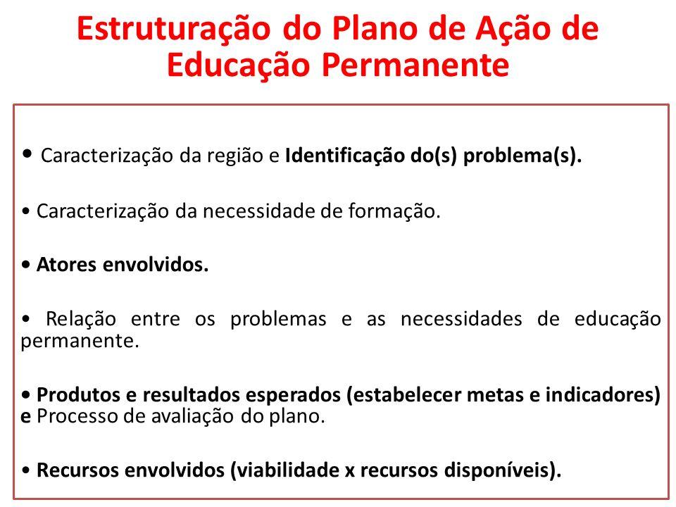 Estruturação do Plano de Ação de Educação Permanente