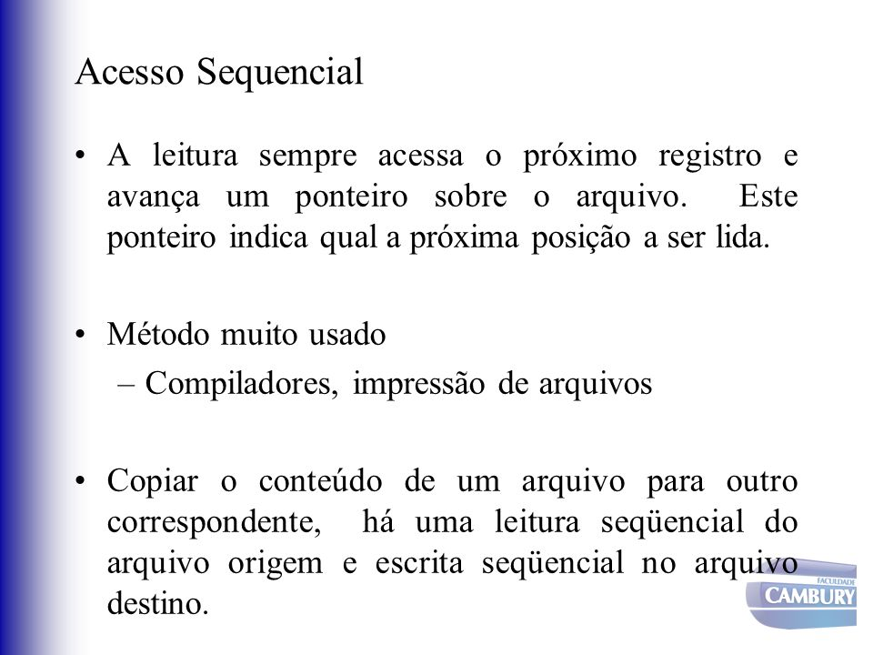 Acesso Sequencial
