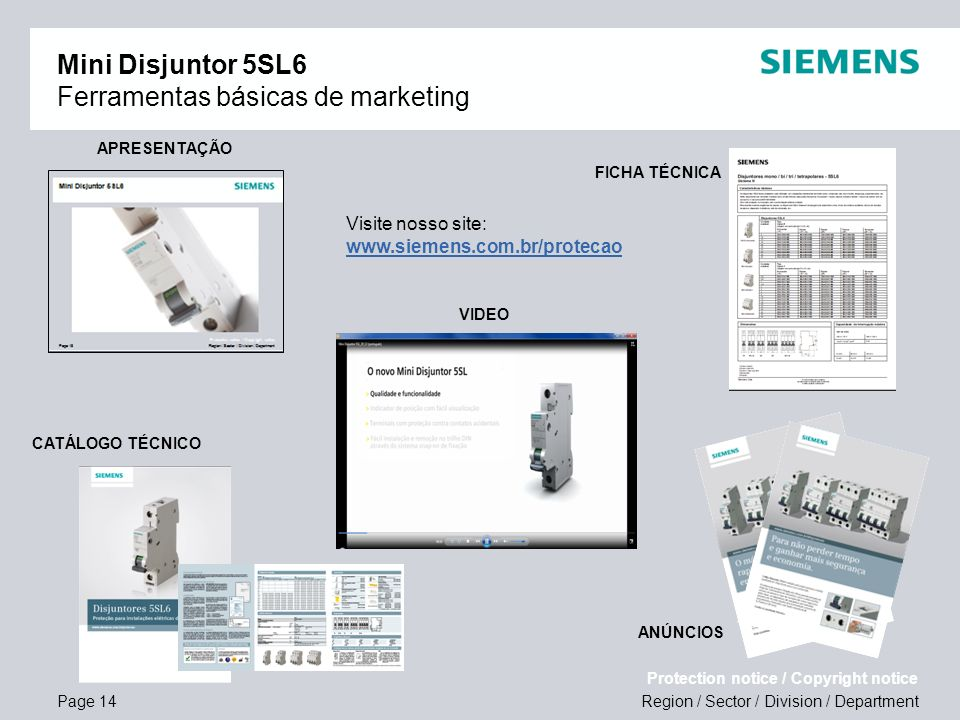 Mini Disjuntor 5SL6 Ferramentas básicas de marketing
