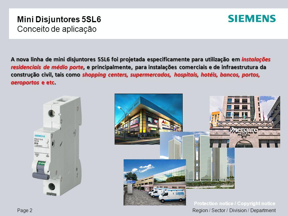 Mini Disjuntores 5SL6 Conceito de aplicação