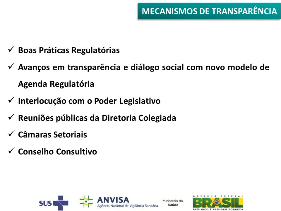 MECANISMOS DE TRANSPARÊNCIA