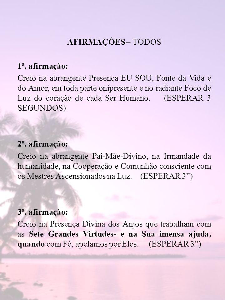 AFIRMAÇÕES – TODOS 1ª.