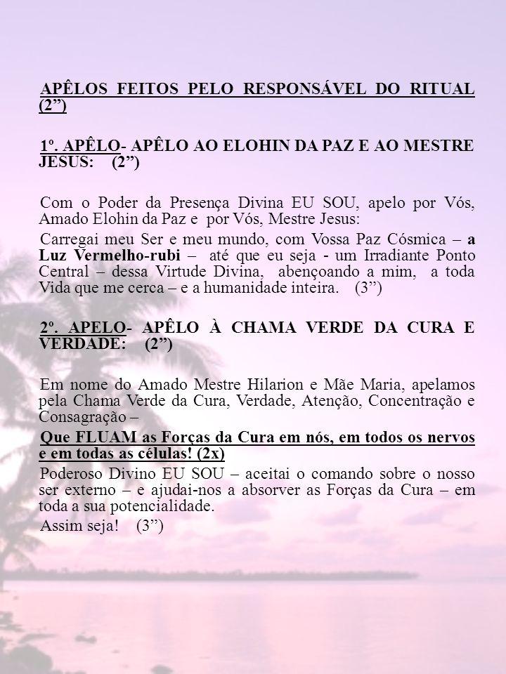 APÊLOS FEITOS PELO RESPONSÁVEL DO RITUAL (2 )