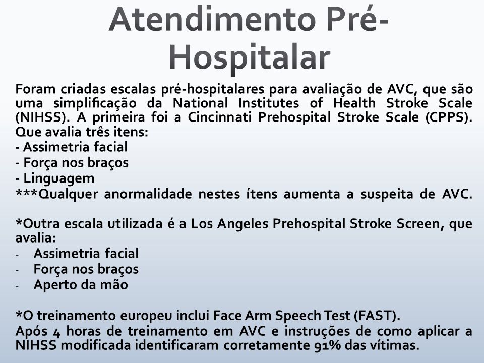 Atendimento Pré- Hospitalar