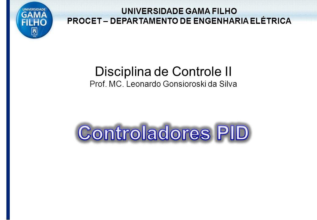 UNIVERSIDADE GAMA FILHO PROCET – DEPARTAMENTO DE ENGENHARIA ELÉTRICA