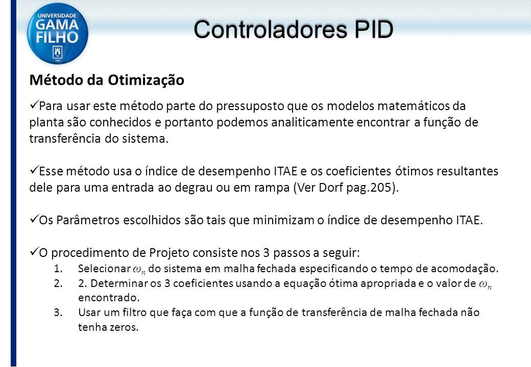Controladores PID Método da Otimização