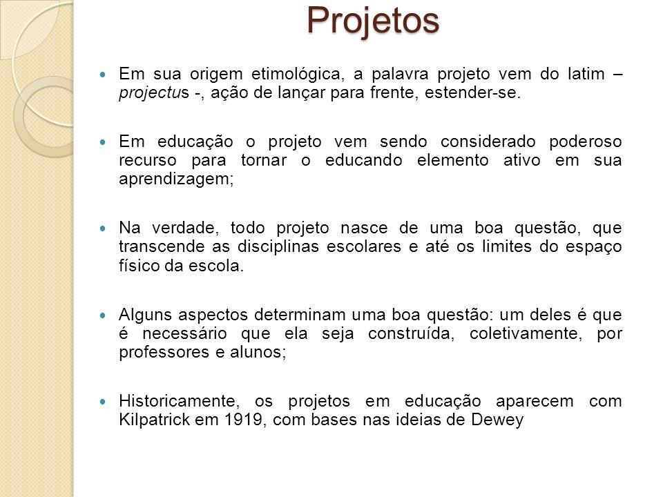 Projetos Em sua origem etimológica, a palavra projeto vem do latim – projectus -, ação de lançar para frente, estender-se.