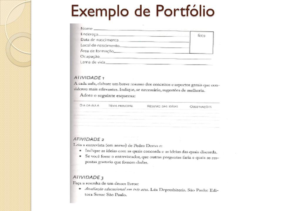 Exemplo de Portfólio