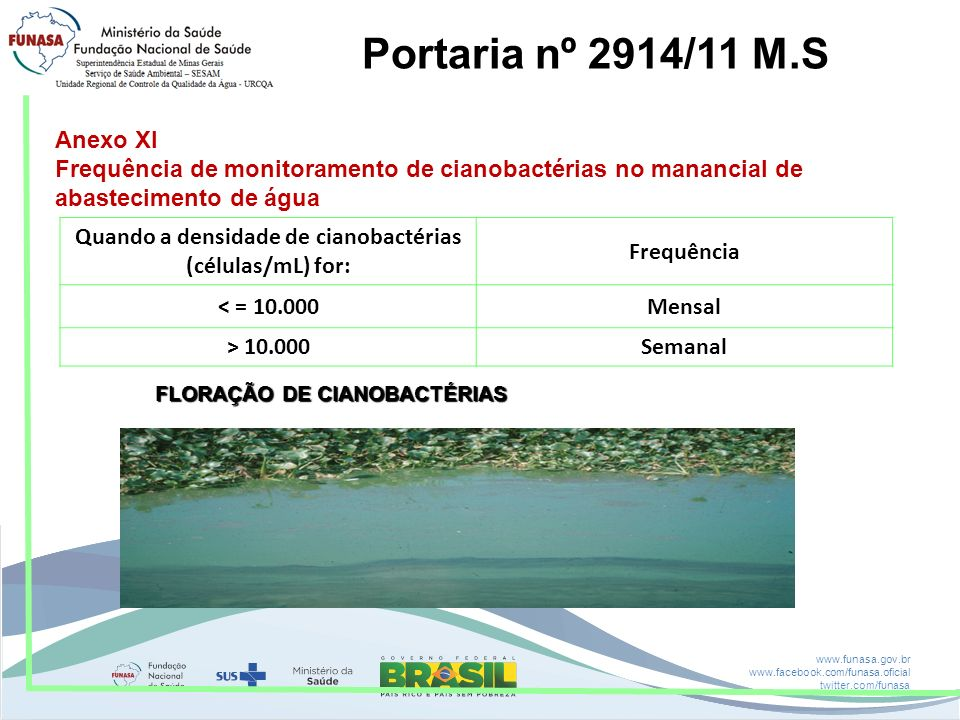 Portaria nº 2914/11 M.S Anexo XI
