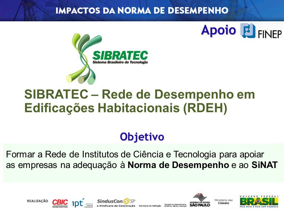 SIBRATEC – Rede de Desempenho em Edificações Habitacionais (RDEH)