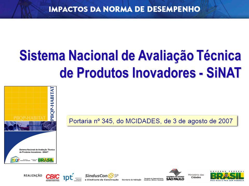 Sistema Nacional de Avaliação Técnica de Produtos Inovadores - SiNAT