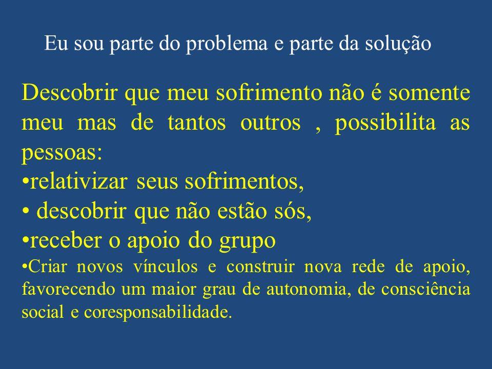 Eu sou parte do problema e parte da solução