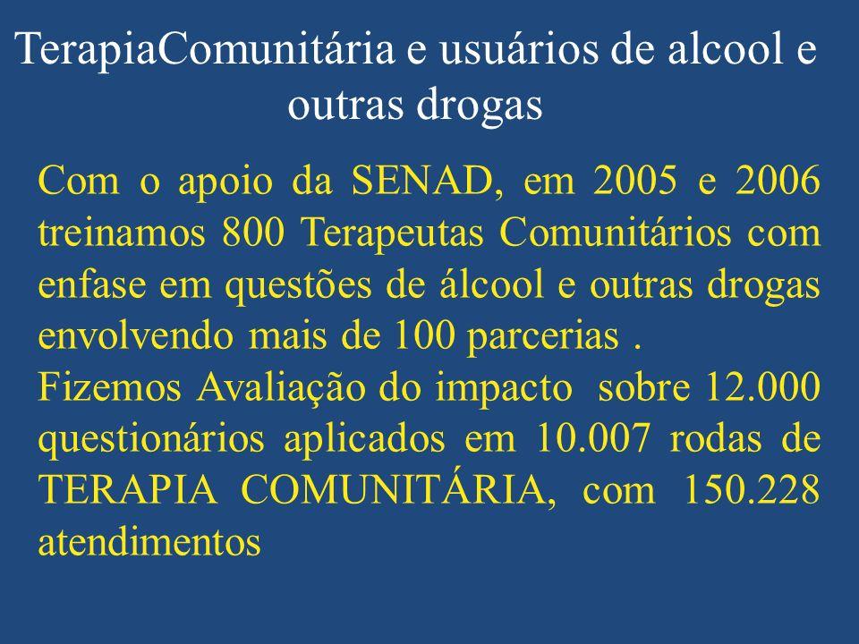 TerapiaComunitária e usuários de alcool e outras drogas
