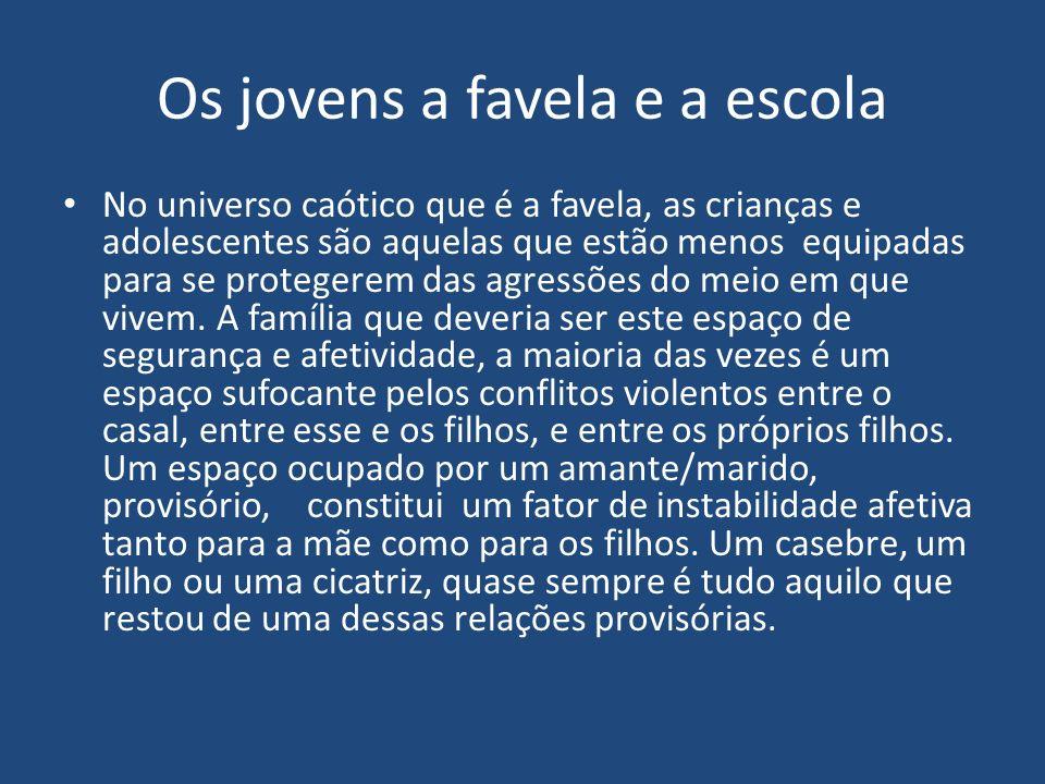 Os jovens a favela e a escola