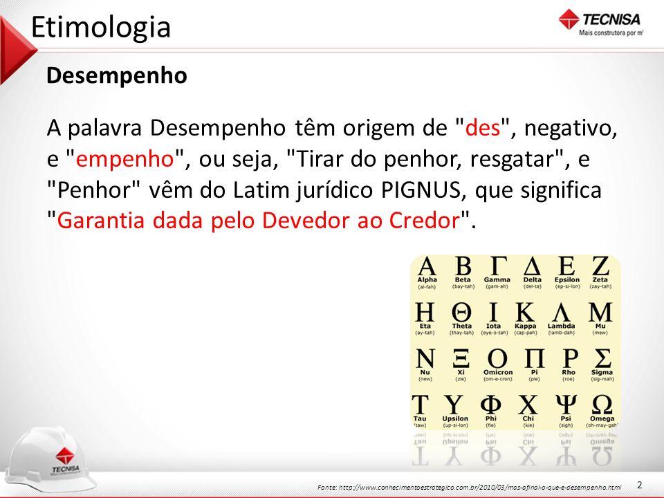 Etimologia Desempenho