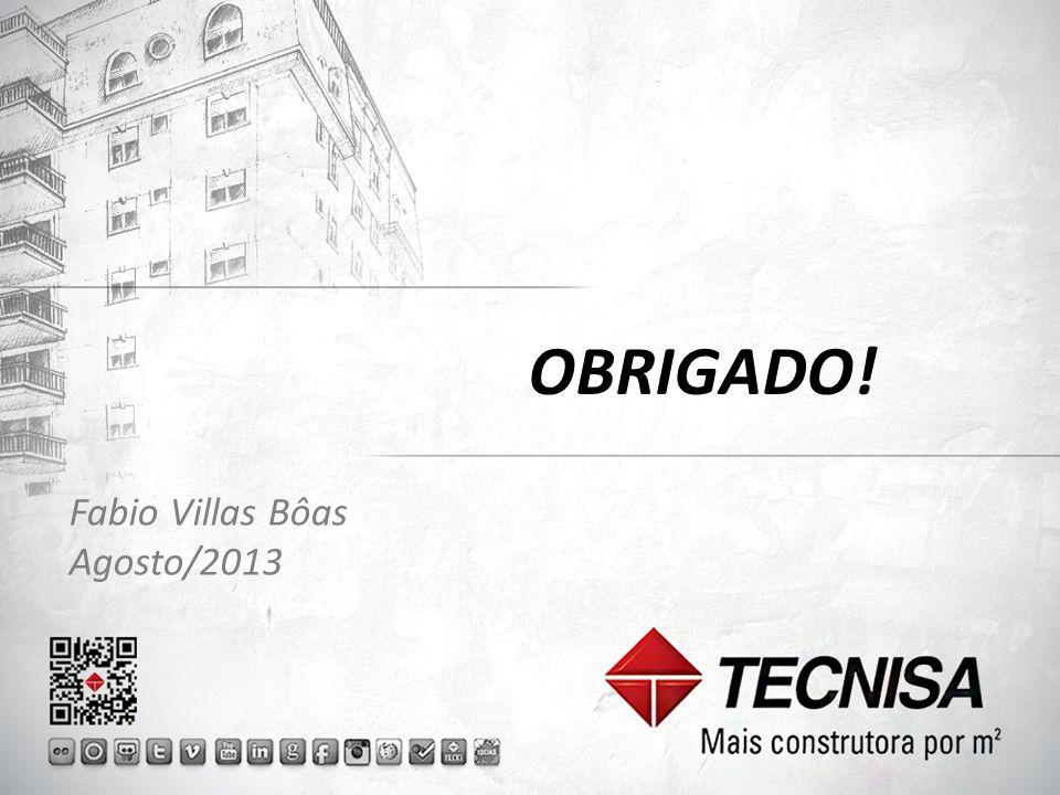 OBRIGADO! Fabio Villas Bôas Agosto/2013