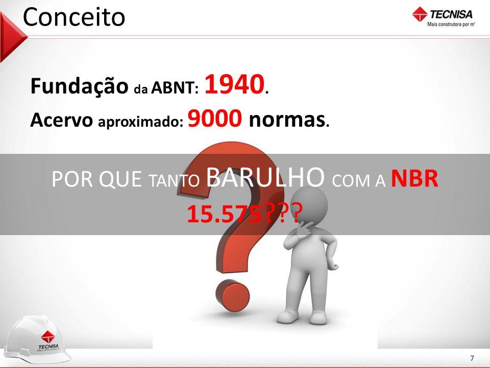 POR QUE TANTO BARULHO COM A NBR 15.575