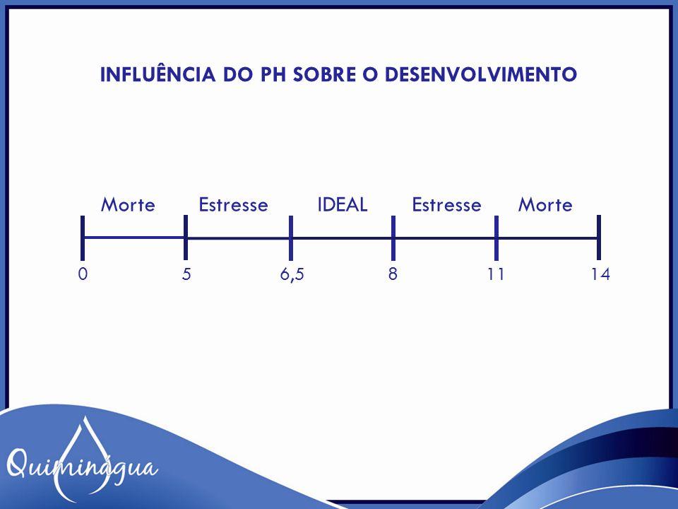 Influência do pH sobre o desenvolvimento