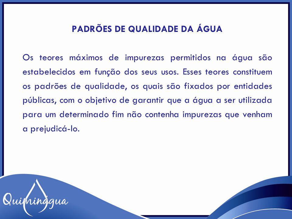 Padrões de qualidade da água