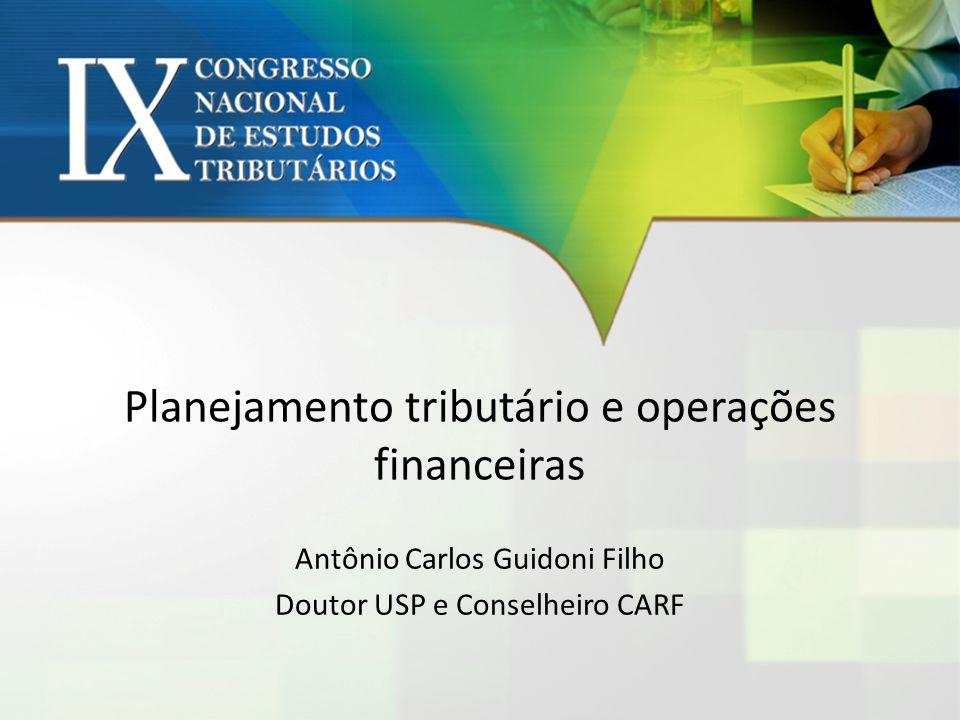 Planejamento tributário e operações financeiras