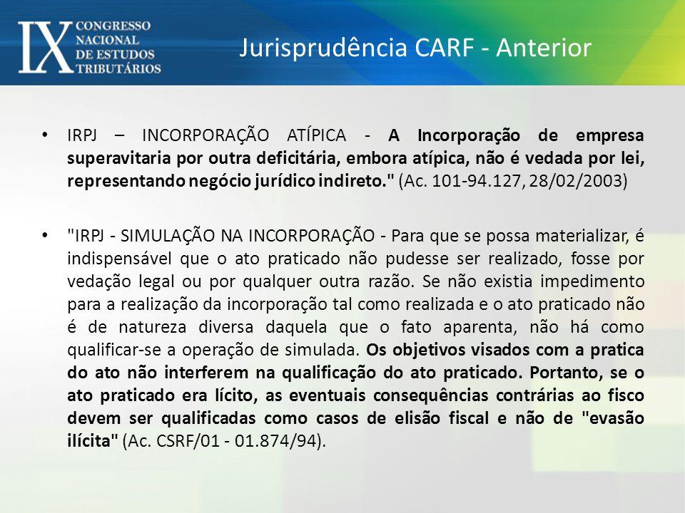 Jurisprudência CARF - Anterior